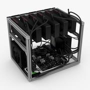 Mining Rig Radeon 3d model