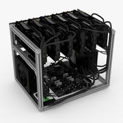 Mining Rig Nvidia 3d model