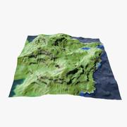 Heuvelachtig landschap 3d model