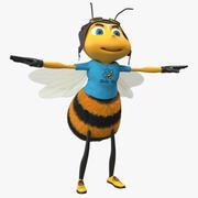 Bee tecknad karaktär 3d model