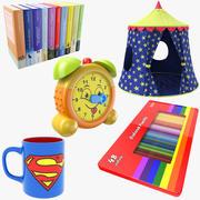 Kolekcja rzeczy dla dzieci 3d model