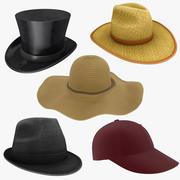 Kolekcja czapek 2 3d model