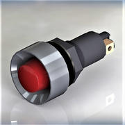 signal light red 3d model
