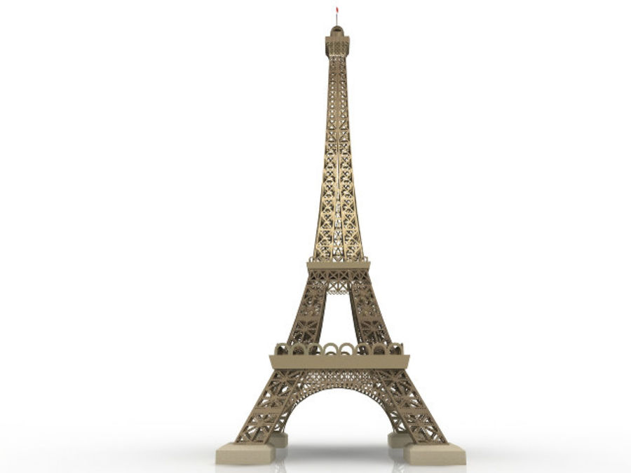 Torre Eiffel royalty-free 3d model - Preview no. 3