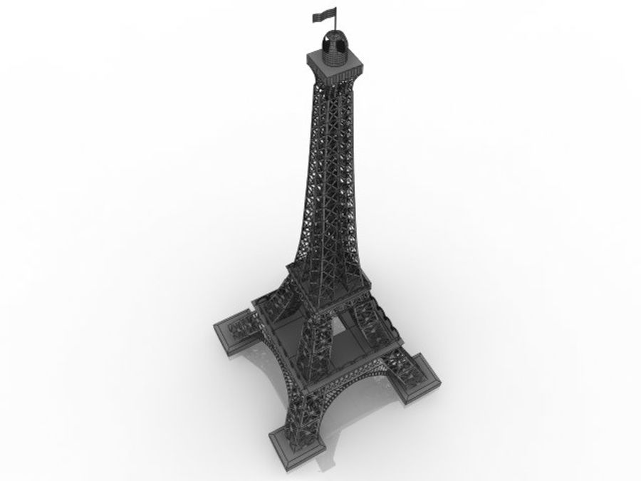 Torre Eiffel royalty-free 3d model - Preview no. 5