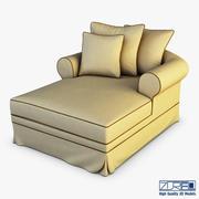 암 폴리 라운지 의자 3d model