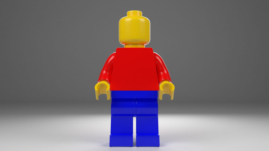 Lego man royalty-free 3d model - Preview no. 2