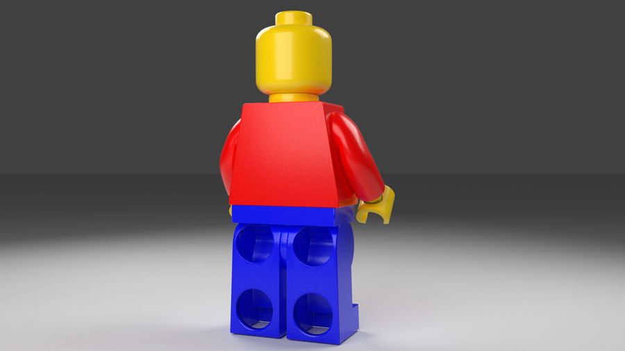 Lego man royalty-free 3d model - Preview no. 5