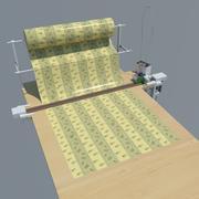 직물 절단 산업용 테이블 3d model