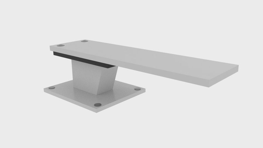 Pool Jump Board royalty-free 3d model - Preview no. 1