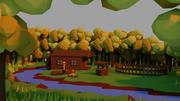 Chata w lesie 3d model