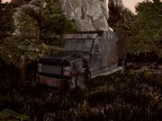 Alter rostiger Lastwagen 3d model