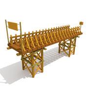 Pont de bois 3d model
