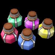 Oyunlar için düşük poli iksirleri 3d model