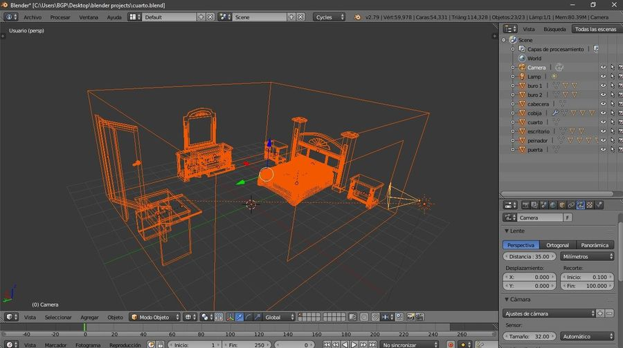 simple room royalty-free 3d model - Preview no. 8