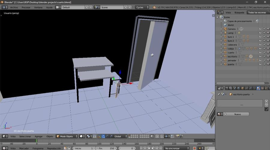simple room royalty-free 3d model - Preview no. 6
