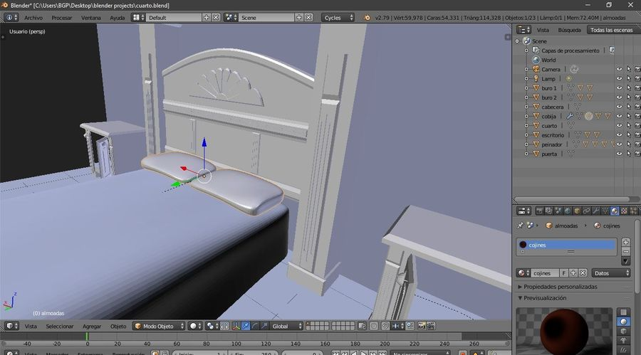 simple room royalty-free 3d model - Preview no. 9