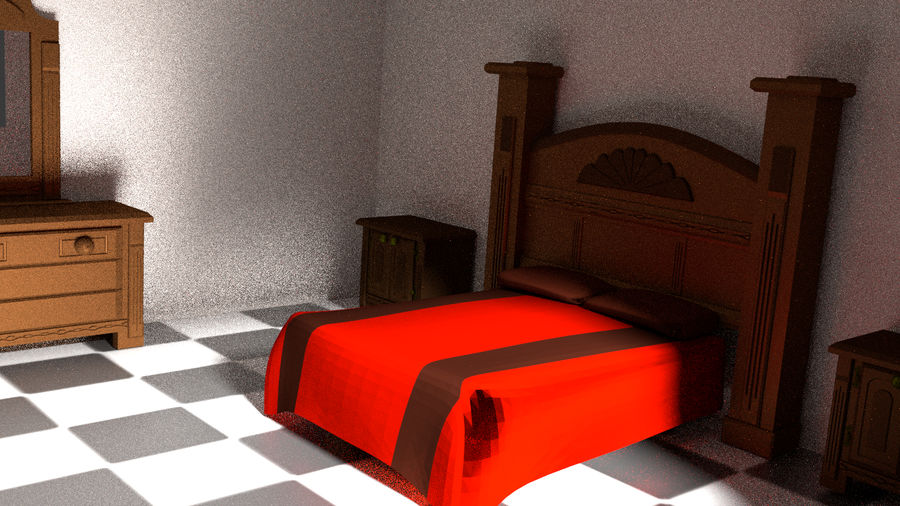 simple room royalty-free 3d model - Preview no. 10
