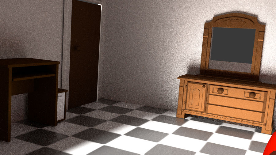simple room royalty-free 3d model - Preview no. 3