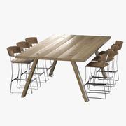 Tavolo e sedia da bar 3d model