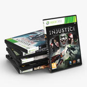 DVD cases for Xbox 360 3d model