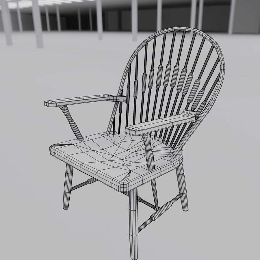 공작 의자 royalty-free 3d model - Preview no. 4