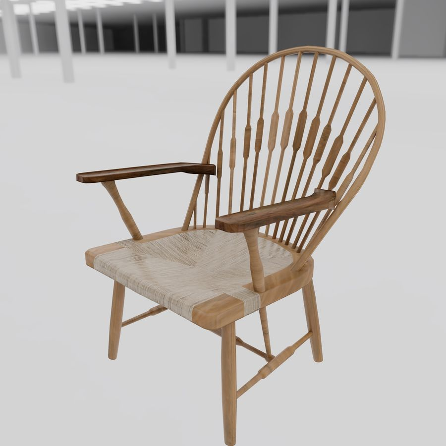 공작 의자 royalty-free 3d model - Preview no. 3