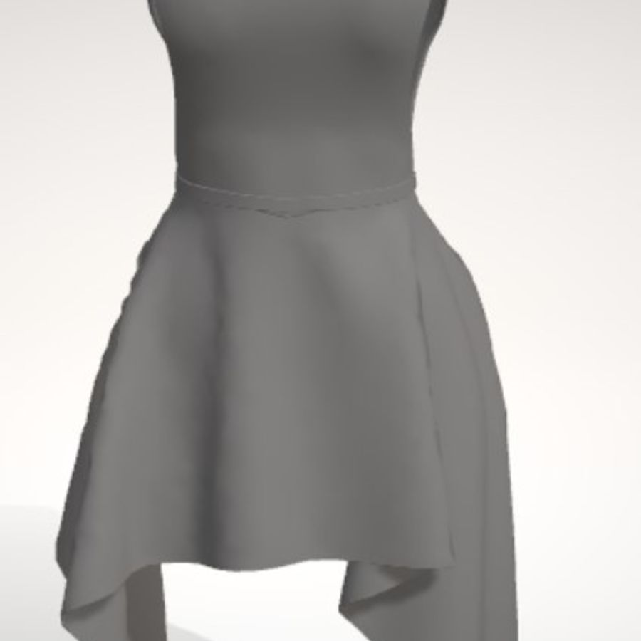 Beauty Dress royalty-free 3d model - Preview no. 2