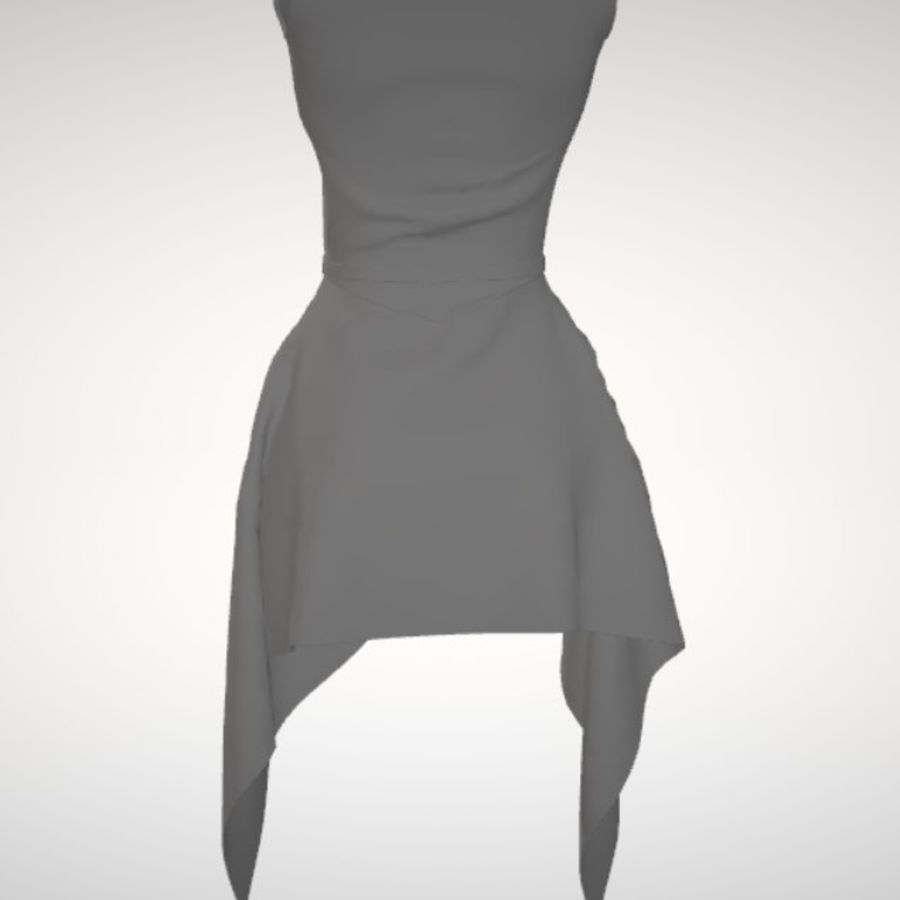 Beauty Dress royalty-free 3d model - Preview no. 5