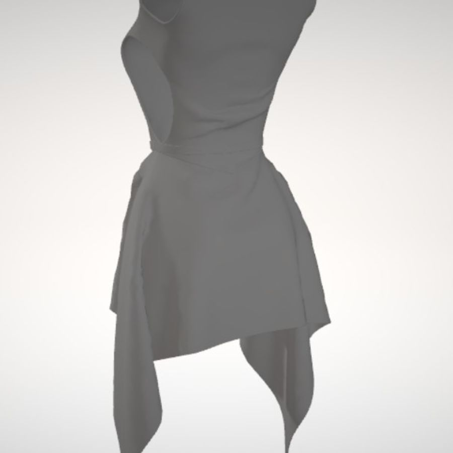 Beauty Dress royalty-free 3d model - Preview no. 4
