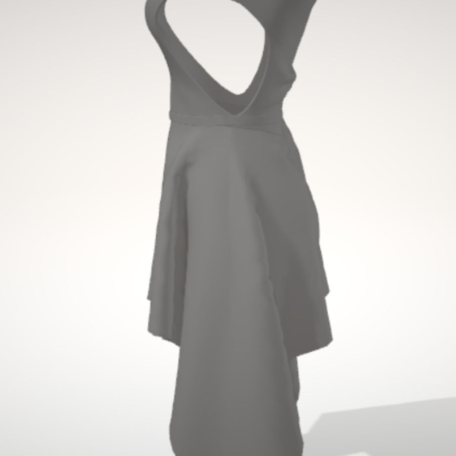 Beauty Dress royalty-free 3d model - Preview no. 3