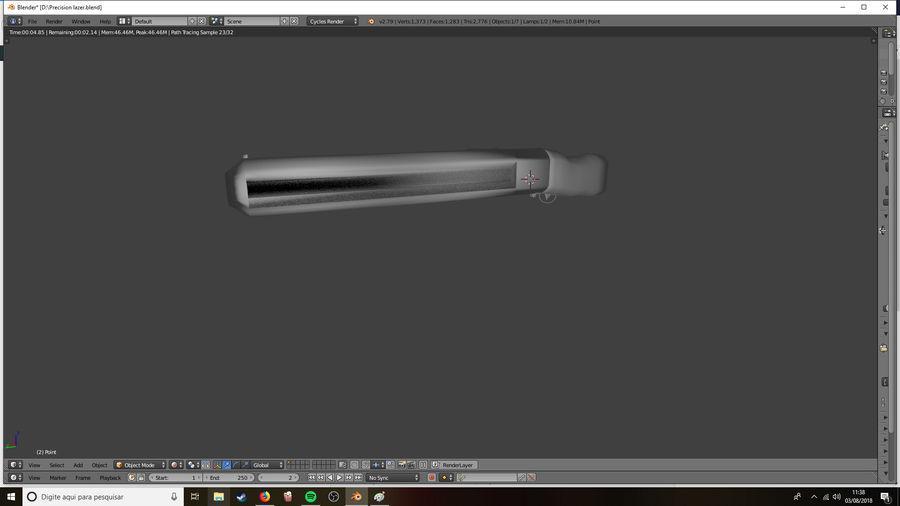Lazer Precision gevär royalty-free 3d model - Preview no. 4