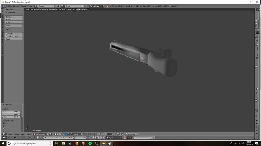 Lazer Precision gevär royalty-free 3d model - Preview no. 5