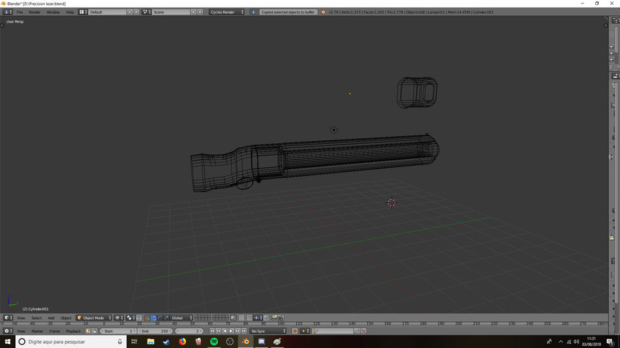 Lazer Precision gevär royalty-free 3d model - Preview no. 3