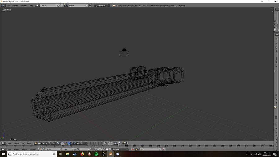 Lazer Precision gevär royalty-free 3d model - Preview no. 2