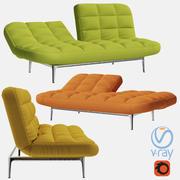 Canapé pliant 3d model