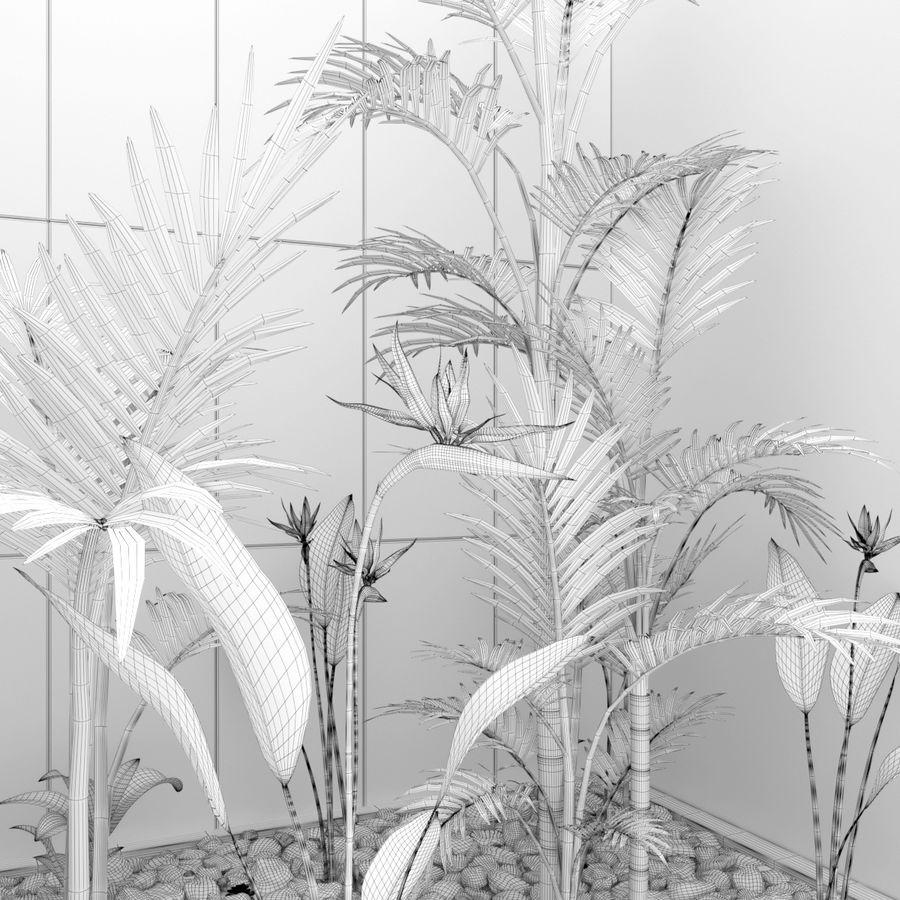 Blumen und Pflanzen gesetzt royalty-free 3d model - Preview no. 5