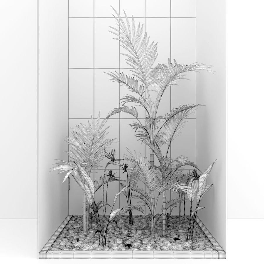 Blumen und Pflanzen gesetzt royalty-free 3d model - Preview no. 4