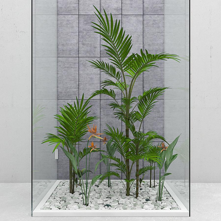 Blumen und Pflanzen gesetzt royalty-free 3d model - Preview no. 1