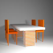 テーブルと椅子 3d model
