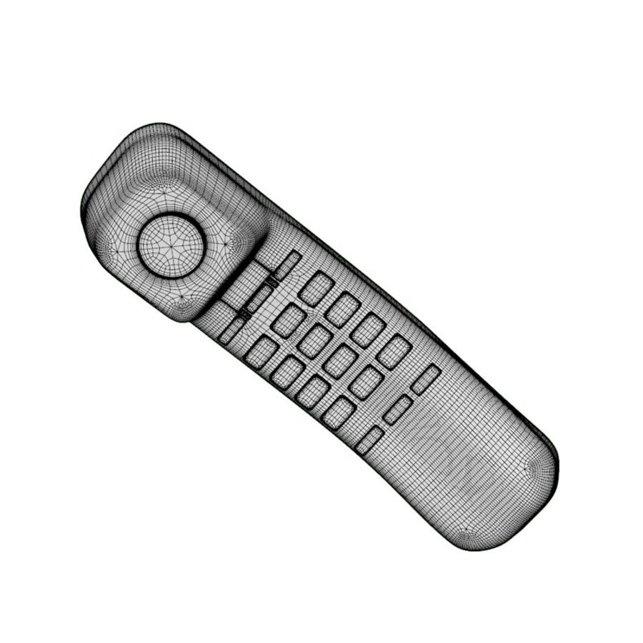 CORDED PHONE BLACK royalty-free 3d model - Preview no. 5