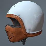 Kask motocyklowy i maska 3d model