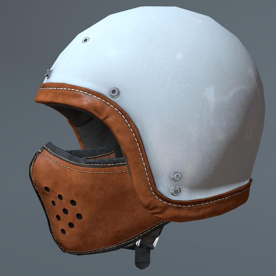 Kask motocyklowy i maska royalty-free 3d model - Preview no. 1