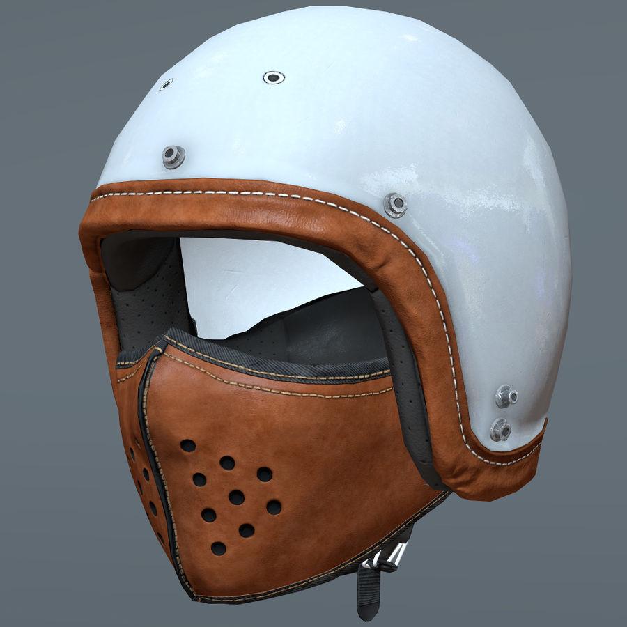 Kask motocyklowy i maska royalty-free 3d model - Preview no. 2