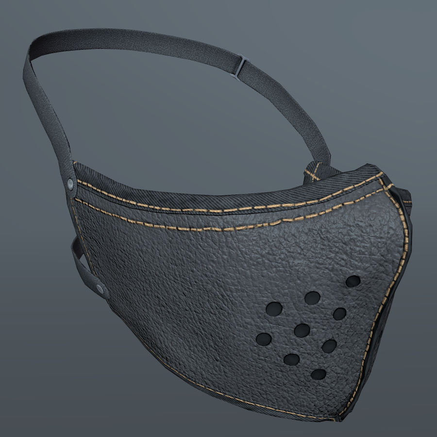Kask motocyklowy i maska royalty-free 3d model - Preview no. 21