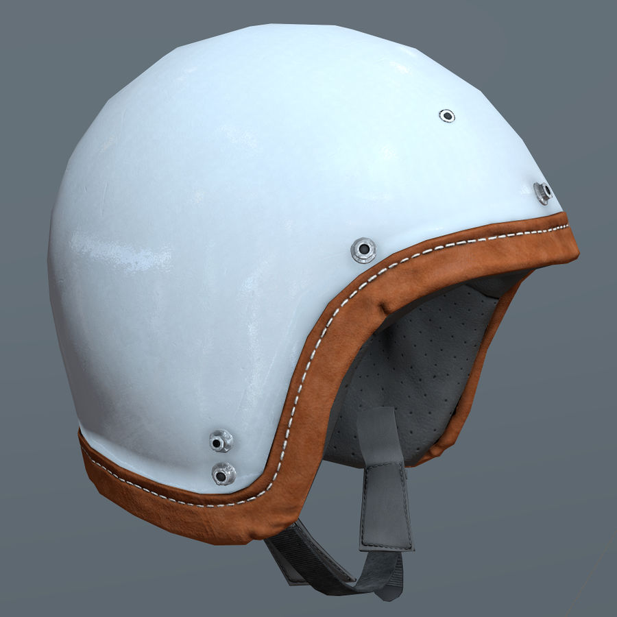 Kask motocyklowy i maska royalty-free 3d model - Preview no. 9