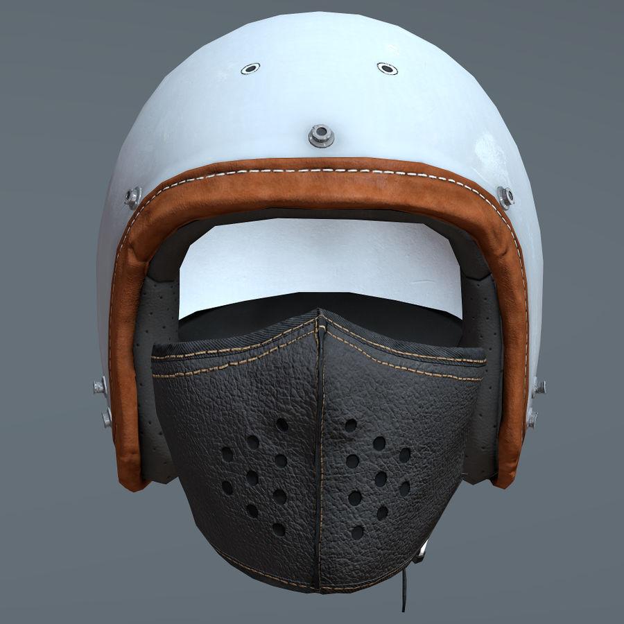 Kask motocyklowy i maska royalty-free 3d model - Preview no. 4