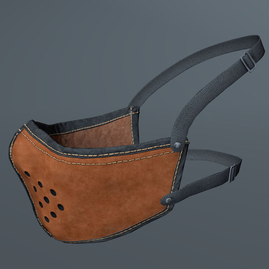 Kask motocyklowy i maska royalty-free 3d model - Preview no. 16