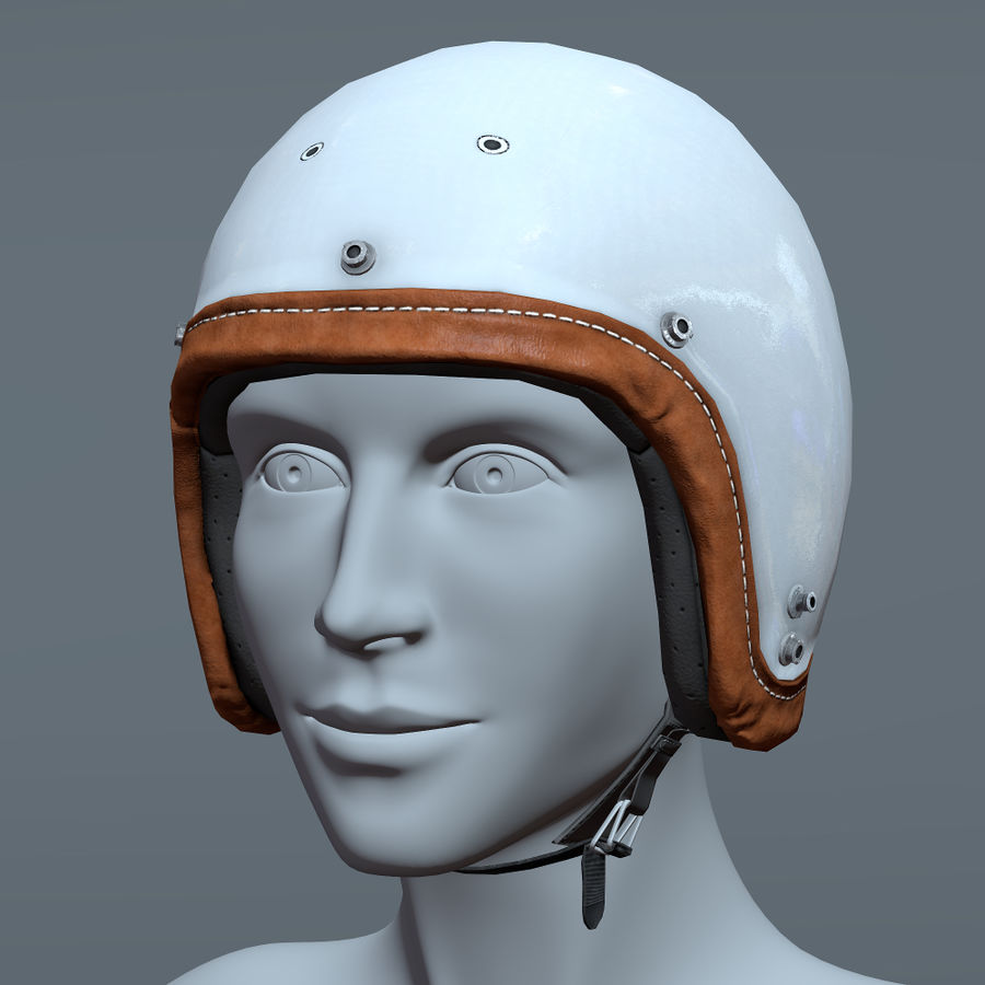 Kask motocyklowy i maska royalty-free 3d model - Preview no. 11