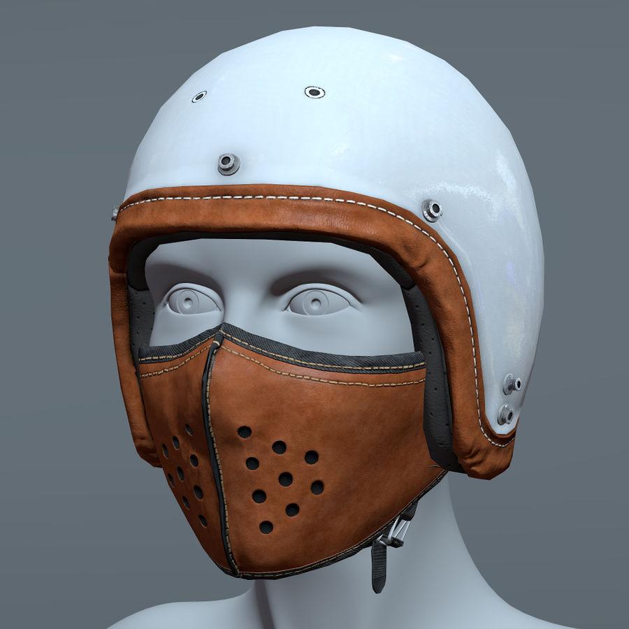 Kask motocyklowy i maska royalty-free 3d model - Preview no. 5